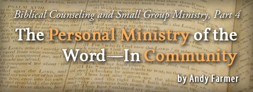 Biblical Counseling and Small Group Ministry Part 4