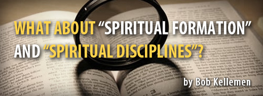 What About Spiritual Formation and Spiritual Disciplines