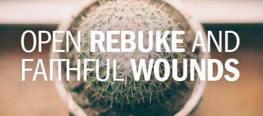 Open Rebuke and Faithful Wounds