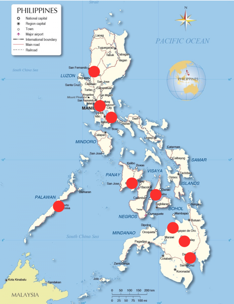 Locations of OIC's ministry in the Philippines